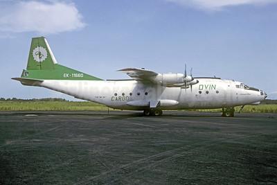 Dvin Air Cargo Antonov An-12B EK-11660 (msn 5343209) BZV (Jacques Guillem Collection). Image: 952228.
