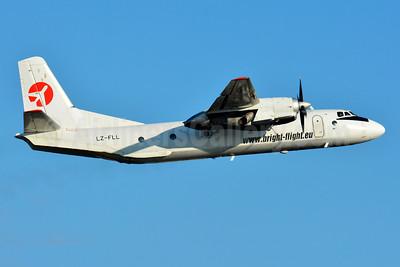 Bright Flight Antonov An-26B LZ-FLL (msn 12201) BSL (Paul Bannwarth). Image: 951014