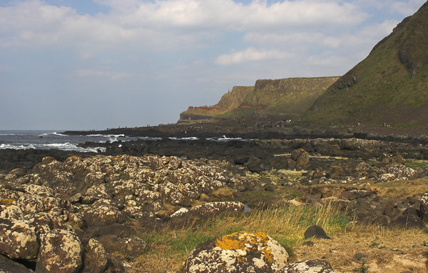 View of Giants Causeway from a distance. Antrim coast, Northern Ireland April 2007