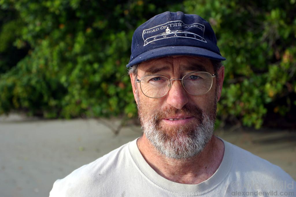 Gary Alpert, of Harvard University, along the beach in northern Australia.