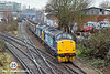 12th Jan 11:   Easing over South Acton Junction are 37510 & 37688 taking scrap steel empties from Sheerness to Stockton