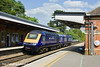 19th May 11:  Working from Bristol St Phillips Marsh to Old Oak Common as 0Z70 are FGW power cars 43124 & 43138.  Captured here passing through Taplow