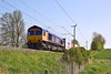 22nd May 12:  66706 is roaring away from Long Buckby while working 4M33 from Felixtowe to Hams Hall
