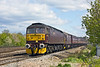 15th Apr 12:  Passing Kennett Bridge Loop are WCR 47760 & 33207 working 5Z14 the 12.40 from Southall to Carnforth with ECS  from a rail tour.  Before the train had passed the cloud had covered the sun !