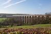 6th May 13:  The 07.34 from Harrogate to Kings Cross crosses Crimple Viaduct on a beautiful spring morning