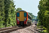 5th Jun 13:  458024 on the hill away from Wanborough with 2N37 the 11.00 frpm Guildford to Ascot