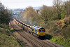 1st Apr 14; With Chippenham station in the background 66742 is seen working 4M40 from Westbury to Stud Farm