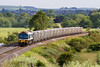 18th Jun 2015:    59102 and a rake of loaded boxes from Whatley Quarry to Oxford Banbury Road