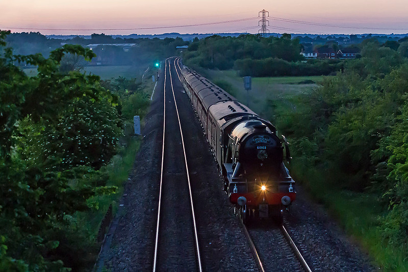 26th May 2017:  The evening circular from Bishops Lydeard is pictured at 9.25 pm as it runs through Heywood with the light fading fast.  1/250 @ f4.5 ISO 6400