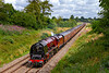 """27th Jul 2019:  Going very well down Brewham bank is LMS Pacific 6233,'Duchess of Sutherland' working 1Z29 the 'Railway Touring Company's """"West Somerset Steam Express'  from Paddington to Minehead.  The location is Stocks Lane near Bruton."""