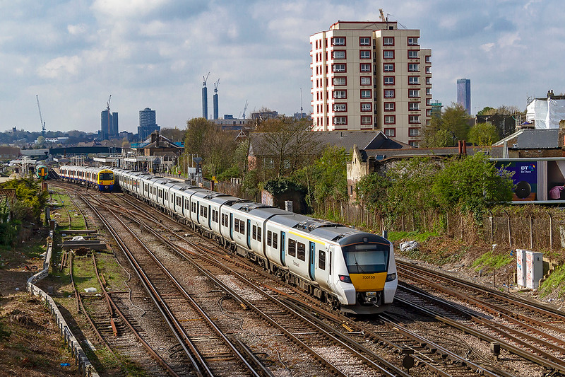 14th Apr 2019:  Running through 700150 Norwood Junction is 700150 that is 9T19 the 08.49 Bedford to Brighton