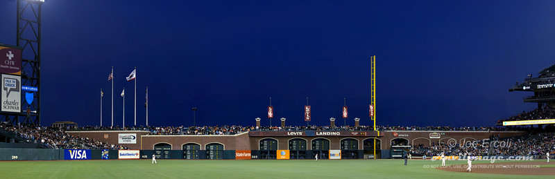 AT&T Park Outfield. Shot hand held.