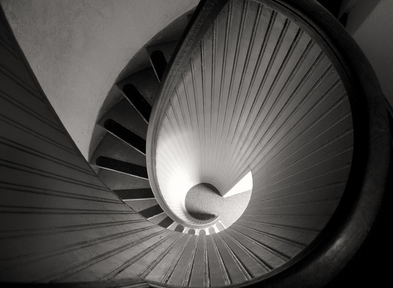 30July11 Lighthouse stairs.