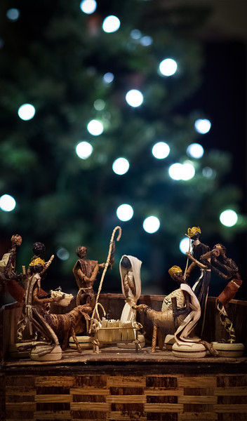 """21December10- Christmas, must be tonight. A title song by 'The Band' one of my favorite Rock bands. A bit about it can be read here: <a href=""""http://theband.hiof.no/lyrics/christmas_must_be_tonight.html"""">http://theband.hiof.no/lyrics/christmas_must_be_tonight.html</a>. My mom collected nativity scenes, so I have a big box in the garage full of them, and every year I pull a different one out in memory of her.<br /> Rokinon P/KA 85mm f/1.4"""