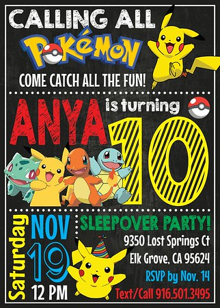 Anya 10th Pokemon birthday
