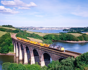 970707  37889 coat to Truro  Forder viaduct