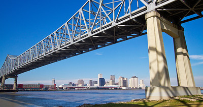 Crescent City Connection bridge in New Orleans.