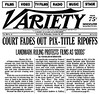 Anything You Want To Be - Variety headline, lawsuit 1977, p1