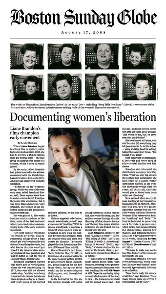 Liane Brandon - Boston Globe 2008
