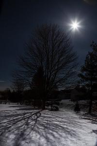 shadows from light of full moon