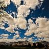 Kodachrome clouds boiling over the San Ysidro Mountains