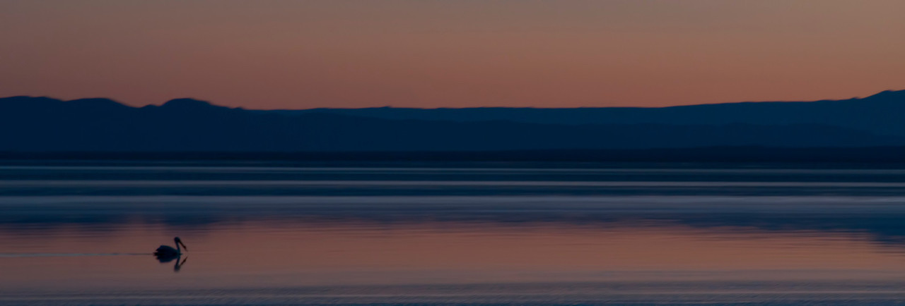 Salton Sea at sunset.  This is when one can experience the beauty that's left of the lake.