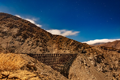 Another View of the Goat Canyon Trestle - Brilliantly Illuminated by a Nearly Full Moon
