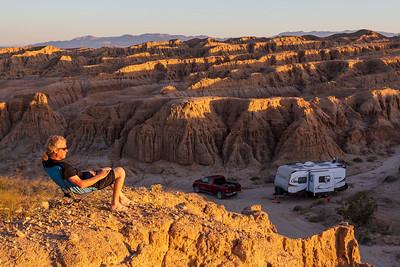 Top of the desert selfie