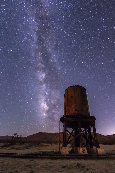 Old Water Tower and The Milky Way