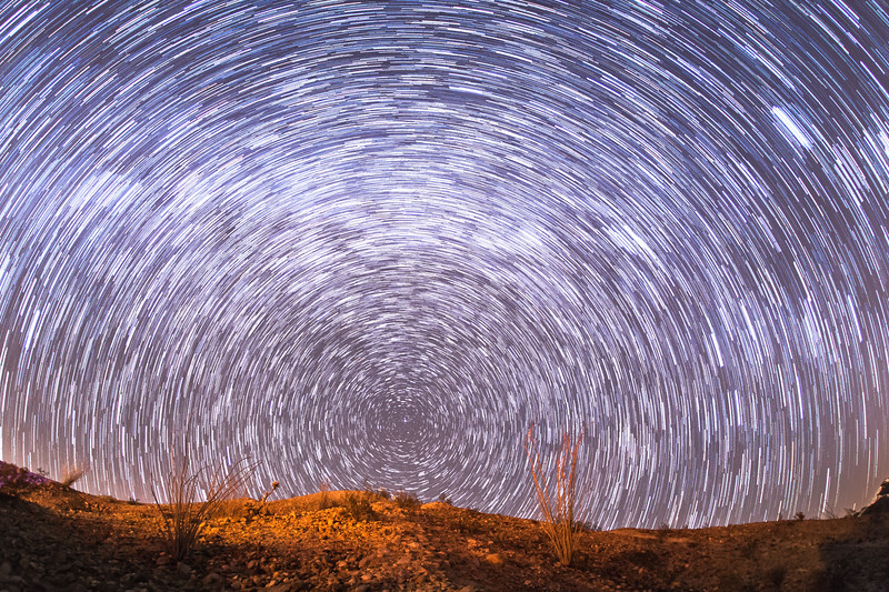 Star trails above Anza-Borrego Desert State Park