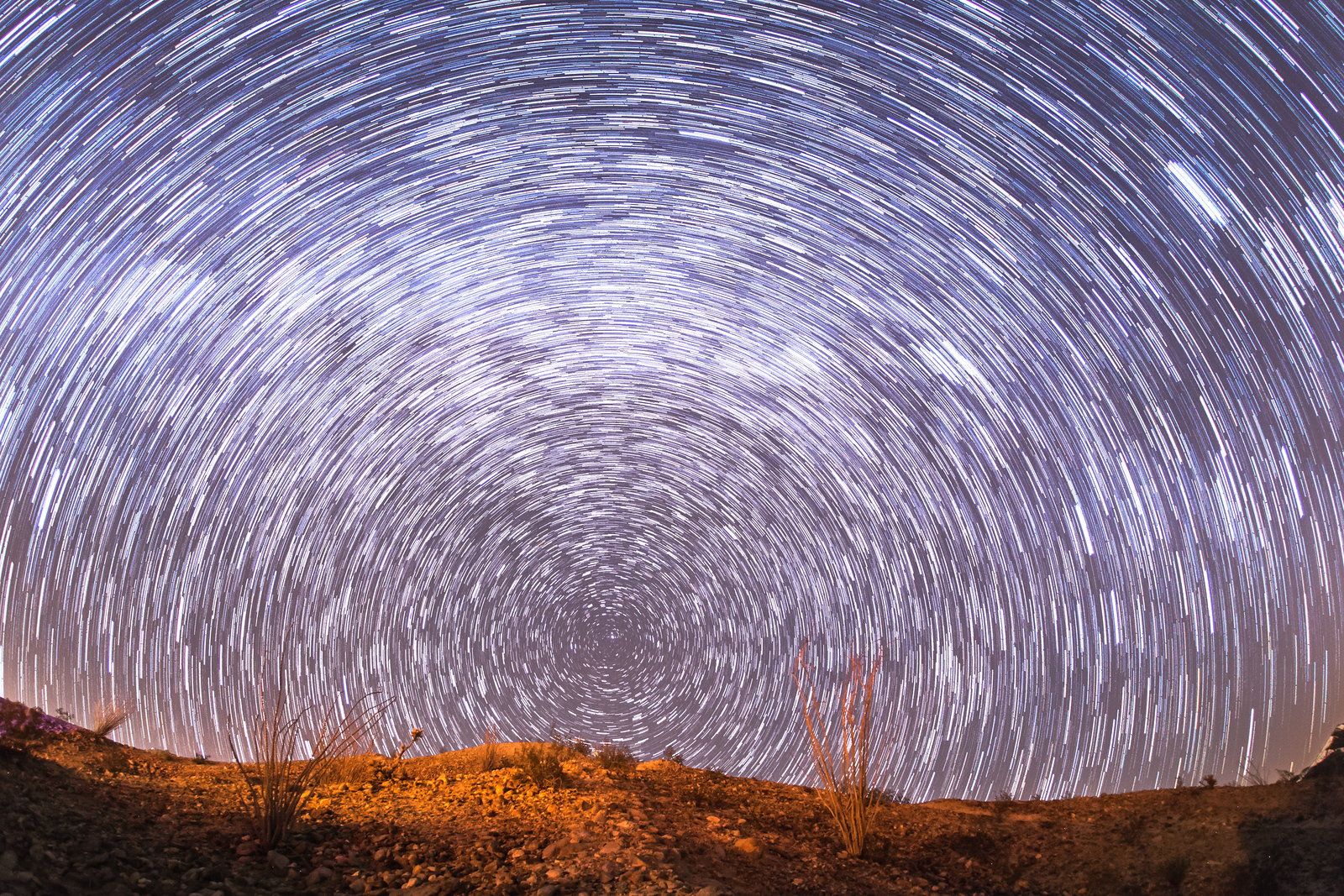 Star trails above Anza-Borrego Desert State Park