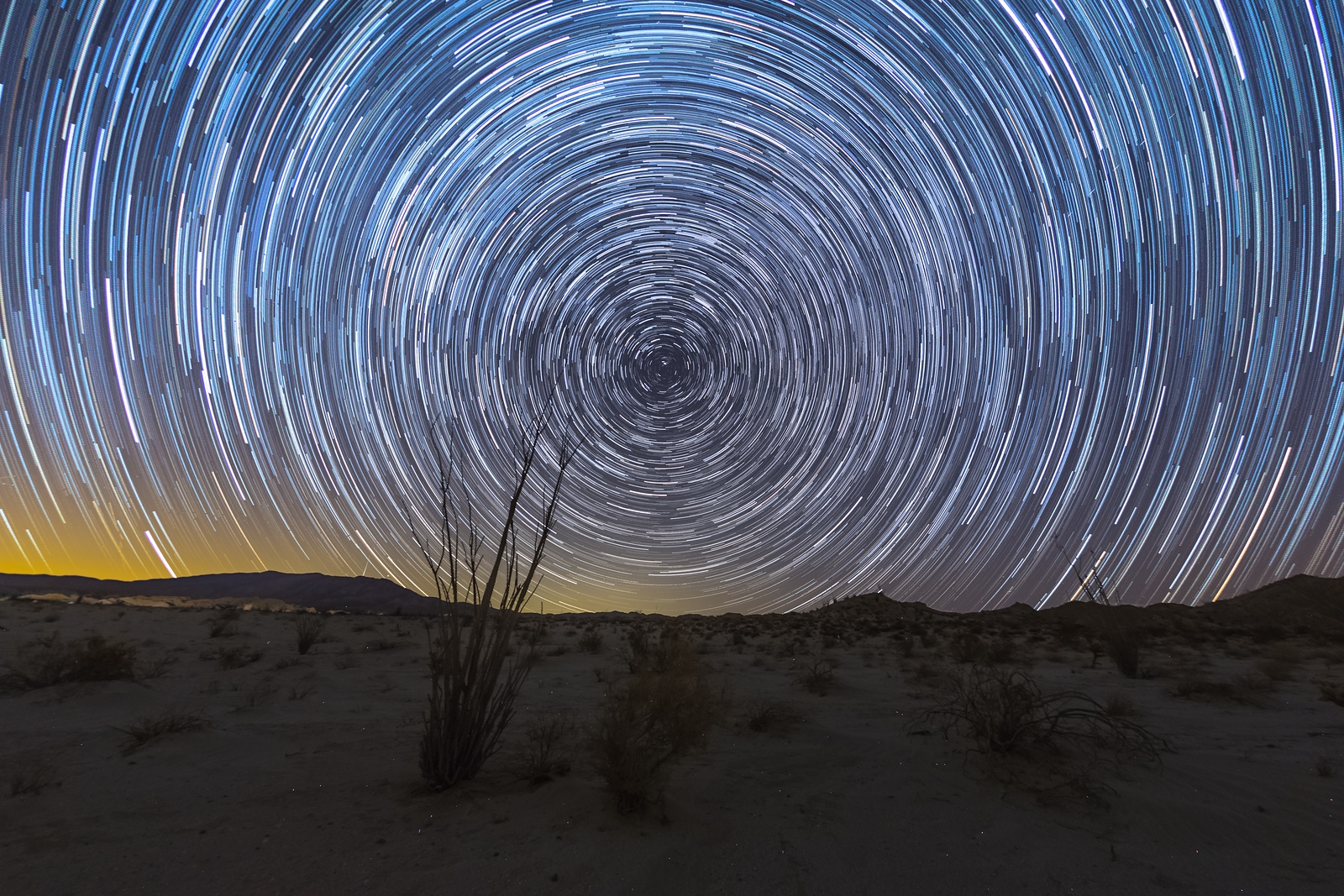 Some More Star Trails Above the Anza-Borrego Desert