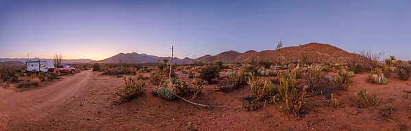 Deserted In the Desert - New Favorite Campsite In Anza-Borrego. Panorama.