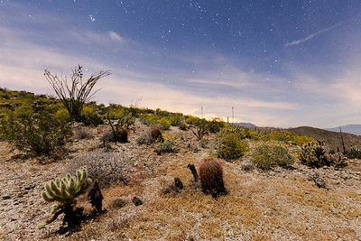 Near the End of Nautical Twilight Near Kenyon Overlook Trail in Anza-Borrego Desert