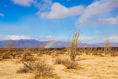 Rainbow Over Borrego Springs.