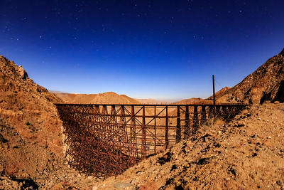The Massive Goat Canyon Trestle - Brilliantly Illuminated by a Nearly Full Moon