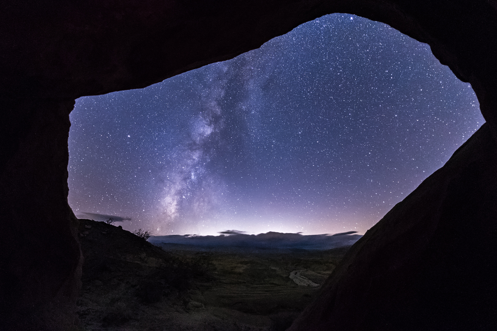 The Milky Way Seen From Inside a Wind Cave