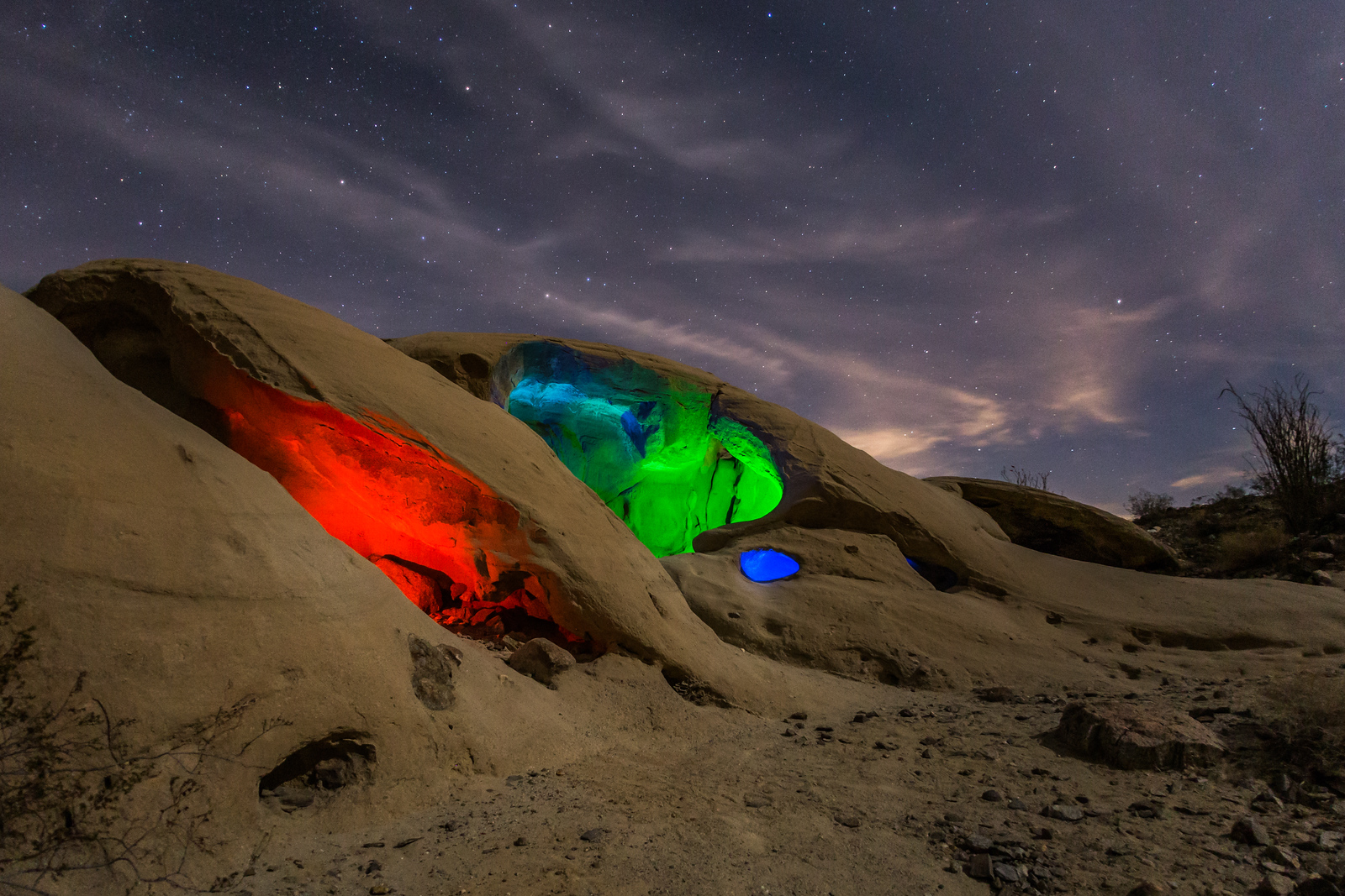 Glowing Wind Caves