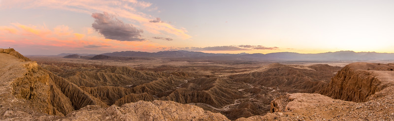 Panorama of Font's Point at sunset