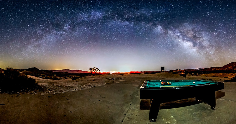 Galactic Billiards In the Anza-Borrego Desert
