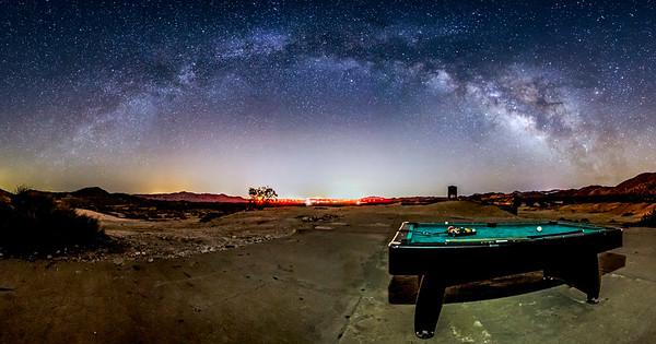 Galactic Billiards In the Anza-Borrego Desert