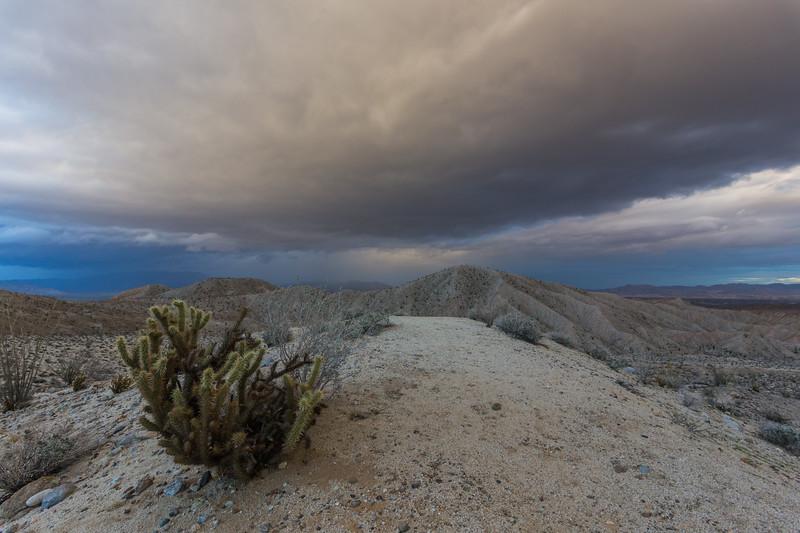 Storm Brewing. Carrizo Badlands Overlook.