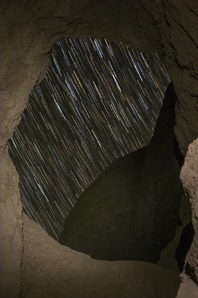 Star Trails from Inside the Mud Caves