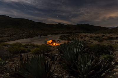 Camping at Yaqui Pass in Anza-Borrego Desert State Park