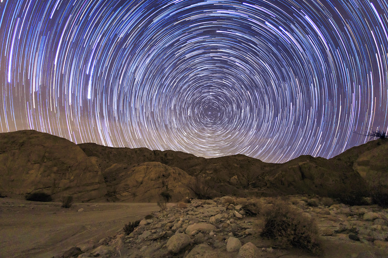 Star Trails Above Split Mountain In the Anza-Borrego Desert