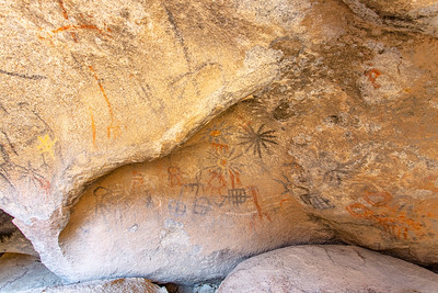 Native American Cave Paintings In the Anza-Borrego Desert Blue Sun Cave