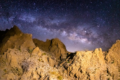 Milky Way Over Marslike Badlands