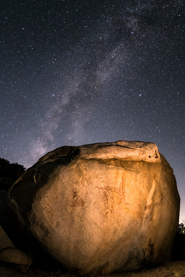 Milky Way and Pictographs in the Anza-Borrego Desert