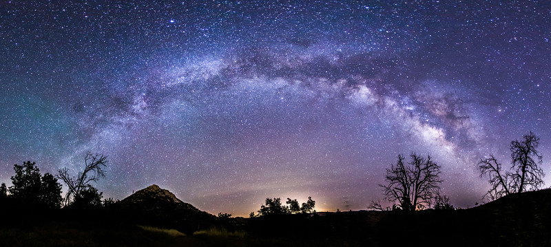 Milky Way panorama over Cuyamaca Rancho State Park