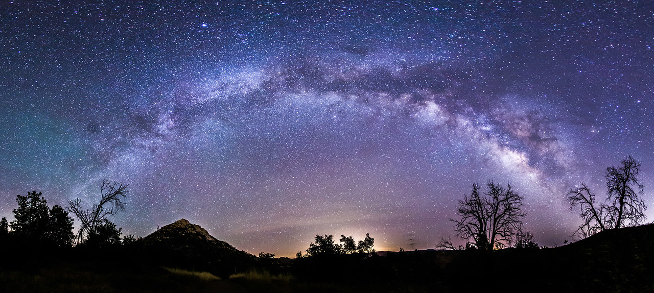 Milky Way panorama over Cuyamaca Rancho State Park​